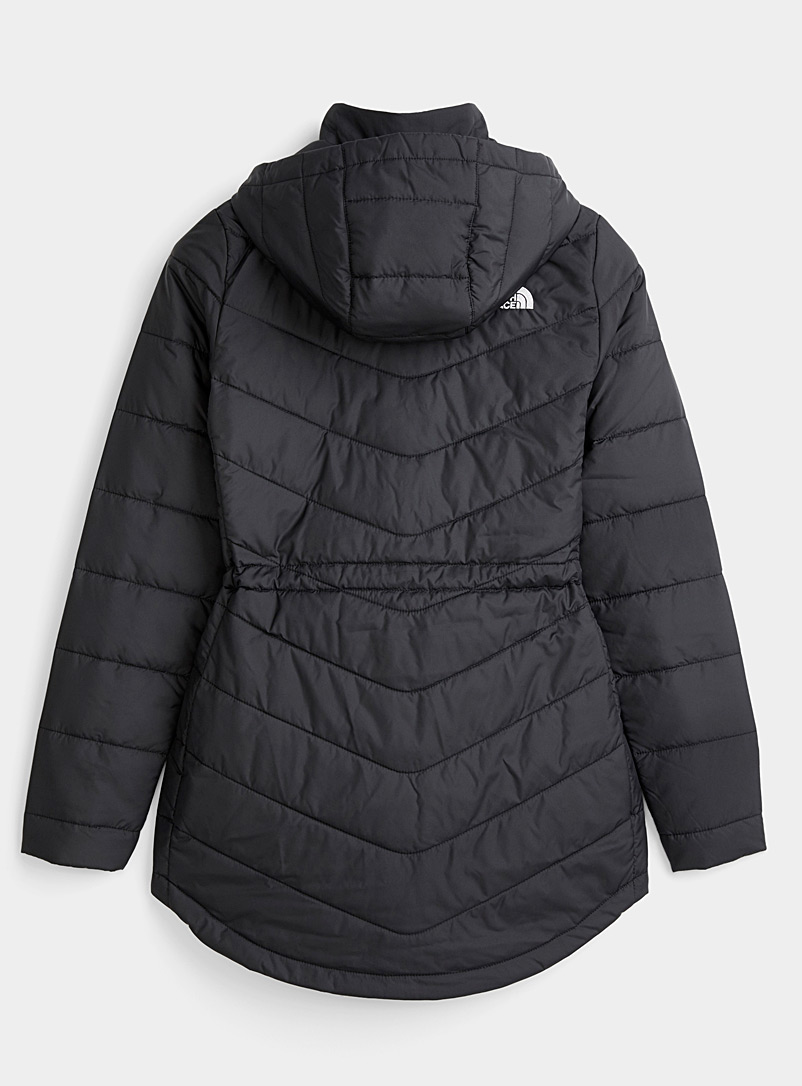 The North Face Black Tamburello quilted parka  Fitted style for women