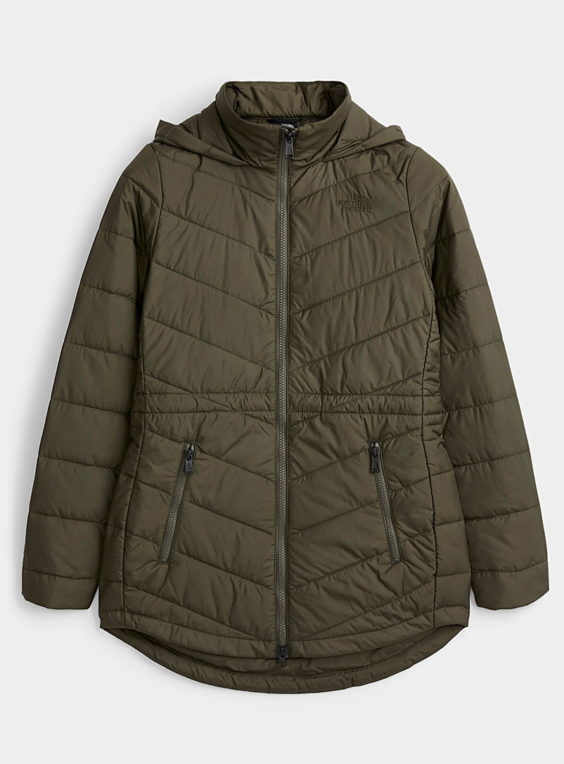 The North Face Mossy Green Tamburello quilted parka  Fitted style for women