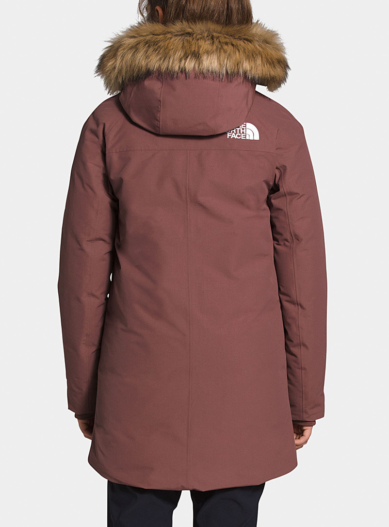 The North Face Medium Crimson Outerboroughs fitted down parka  Relaxed fit for women