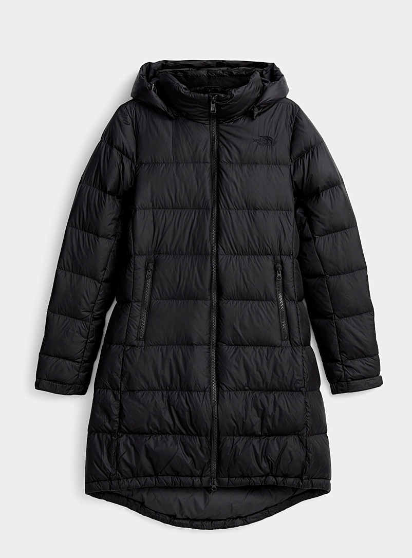 The North Face Black Metropolis III puffer jacket  Long fit for women