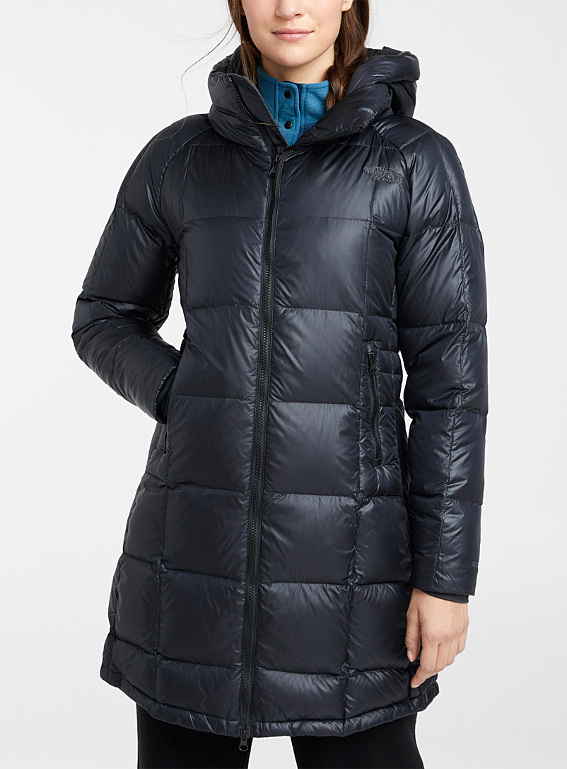 The North Face Grey Acropolis quilted down parka for women