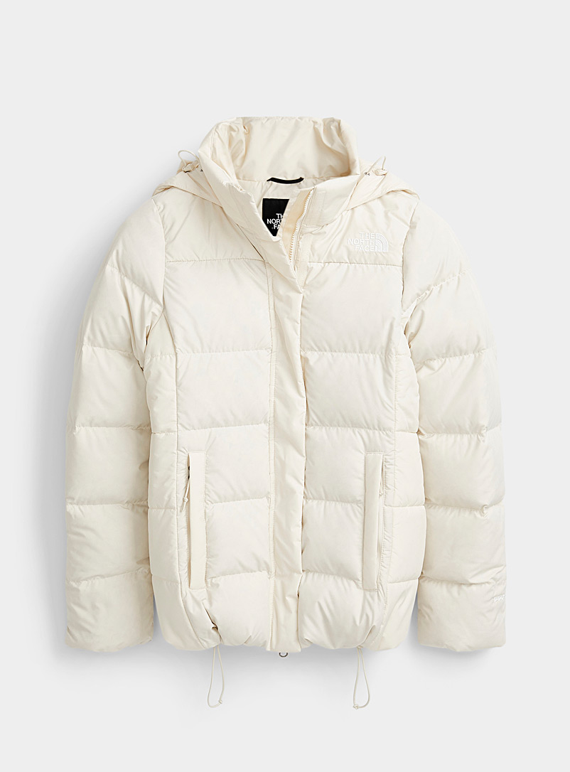 The North Face Ivory White Gotham coat  Fitted style for women