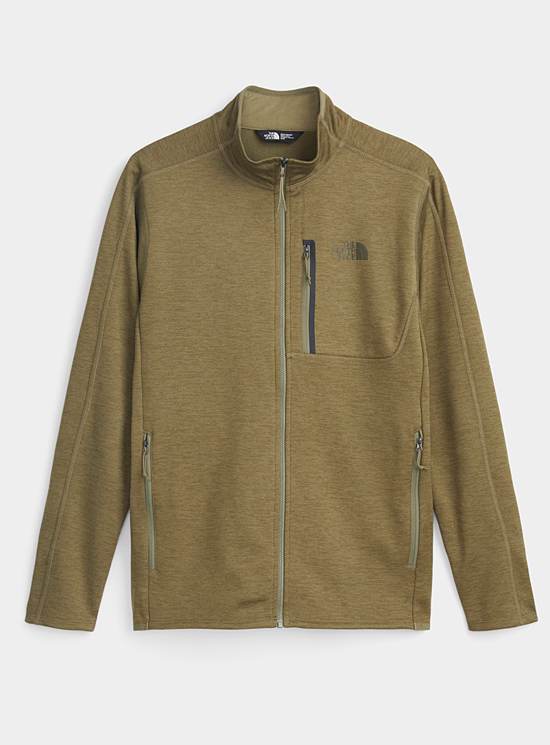The North Face Khaki Canyonland fleece-lined jacket for men