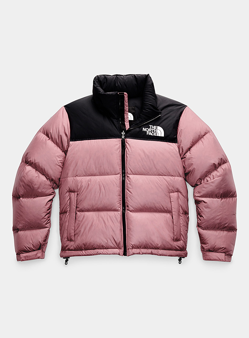 The North Face Dusky Pink Nuptse down puffer jacket for women
