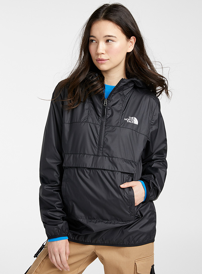 The North Face Black Fanorak packable windbreaker for women