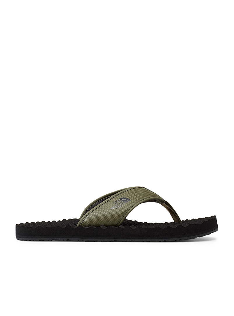 The North Face Mossy Green Base Camp flip-flops for men