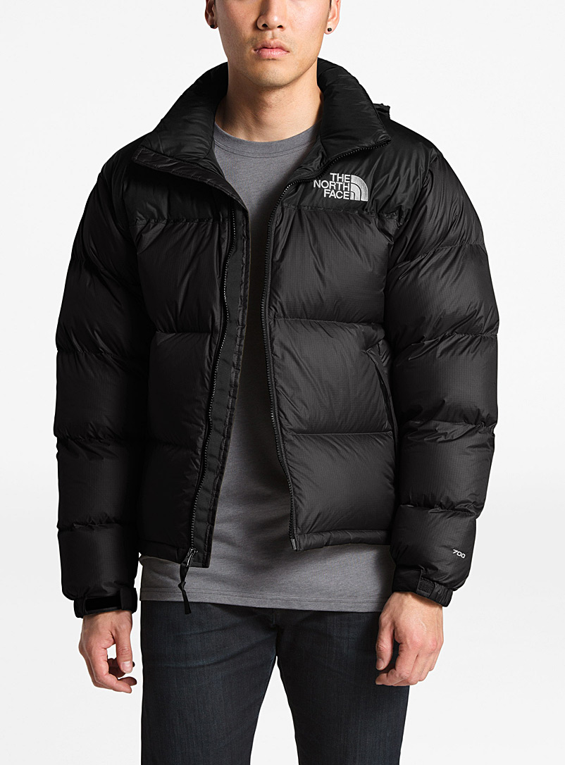 The North Face Black Nuptse retro puffer jacket for men
