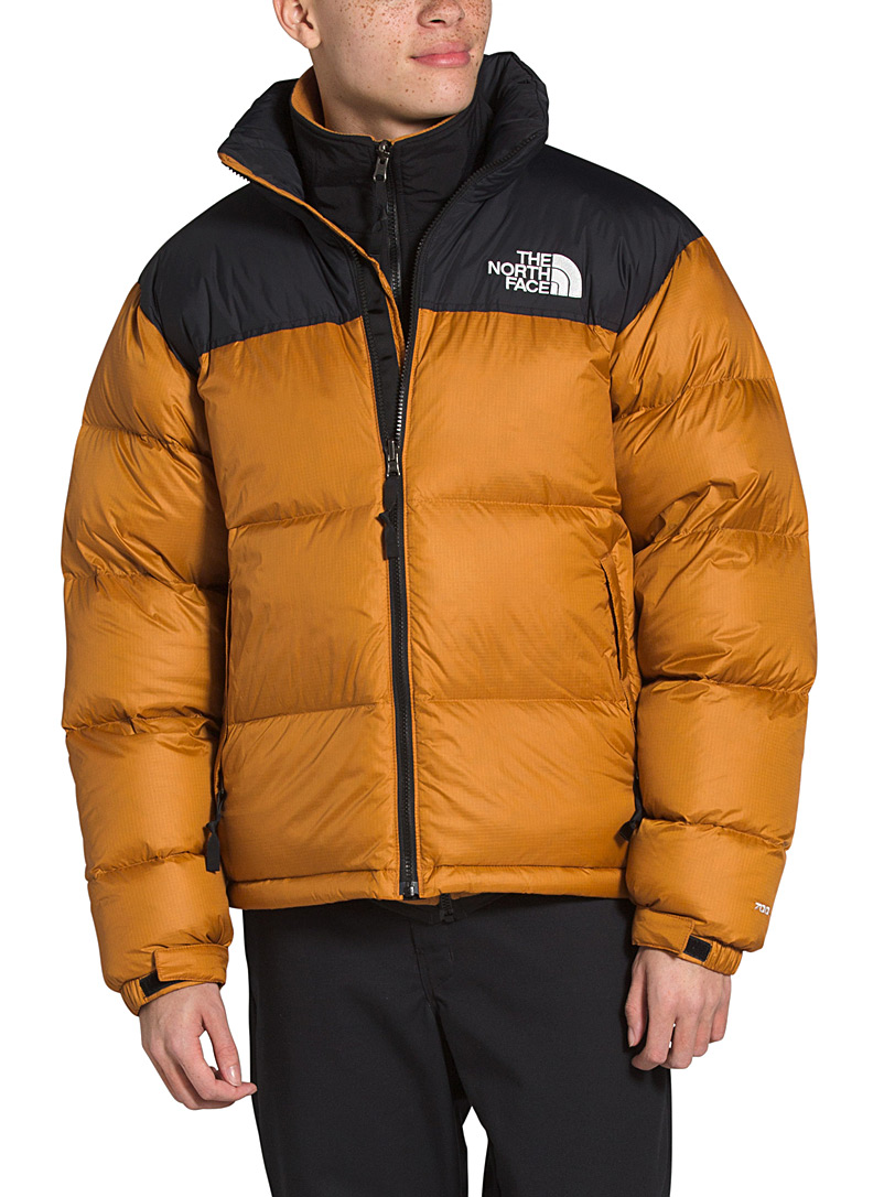 The North Face Amber Bronze Nuptse retro puffer jacket for men
