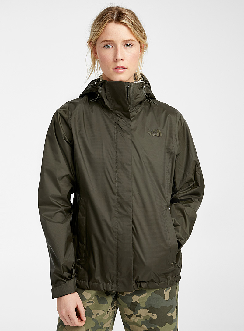 The North Face Mossy Green Venture raincoat for women