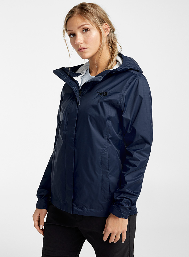 The North Face Dark Blue Venture raincoat for women