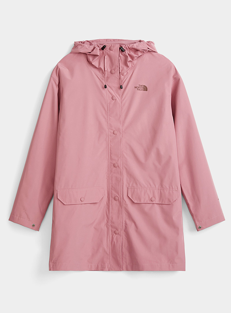 The North Face Pink Woodmont recycled fibre raincoat for women