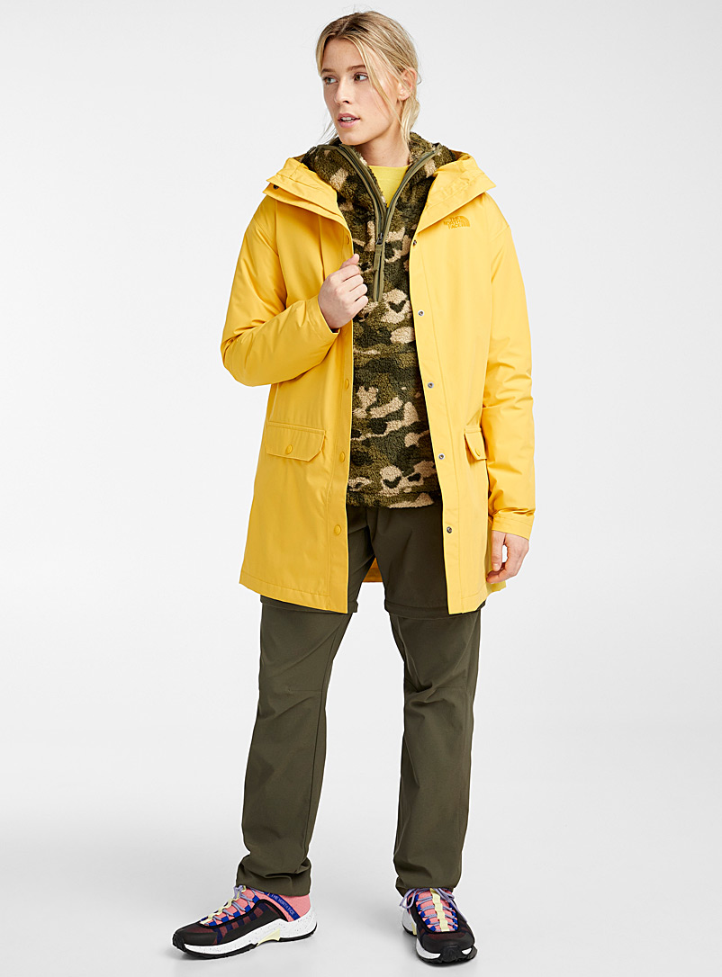 The North Face Bright Yellow Woodmont recycled fibre raincoat for women