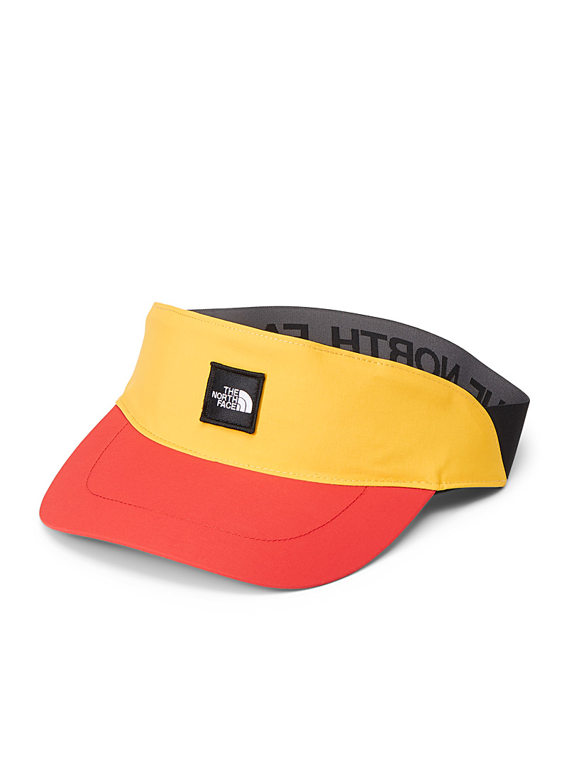 The North Face Bright Yellow Padded band logo visor for women