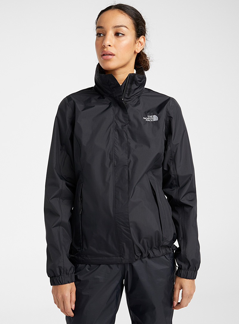 The North Face: L'imperméable robuste Resolve Noir pour femme
