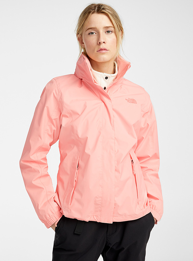 The North Face Peach Resolve rugged raincoat for women
