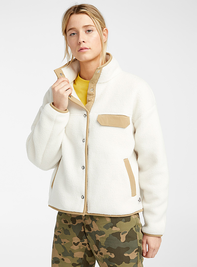 The North Face Ivory White Cragmont cotton fleece jacket for women