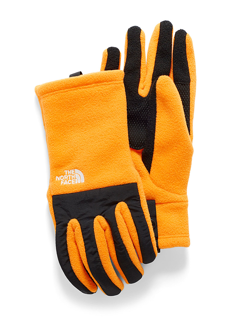 The North Face Golden Yellow Denali techno gloves for men