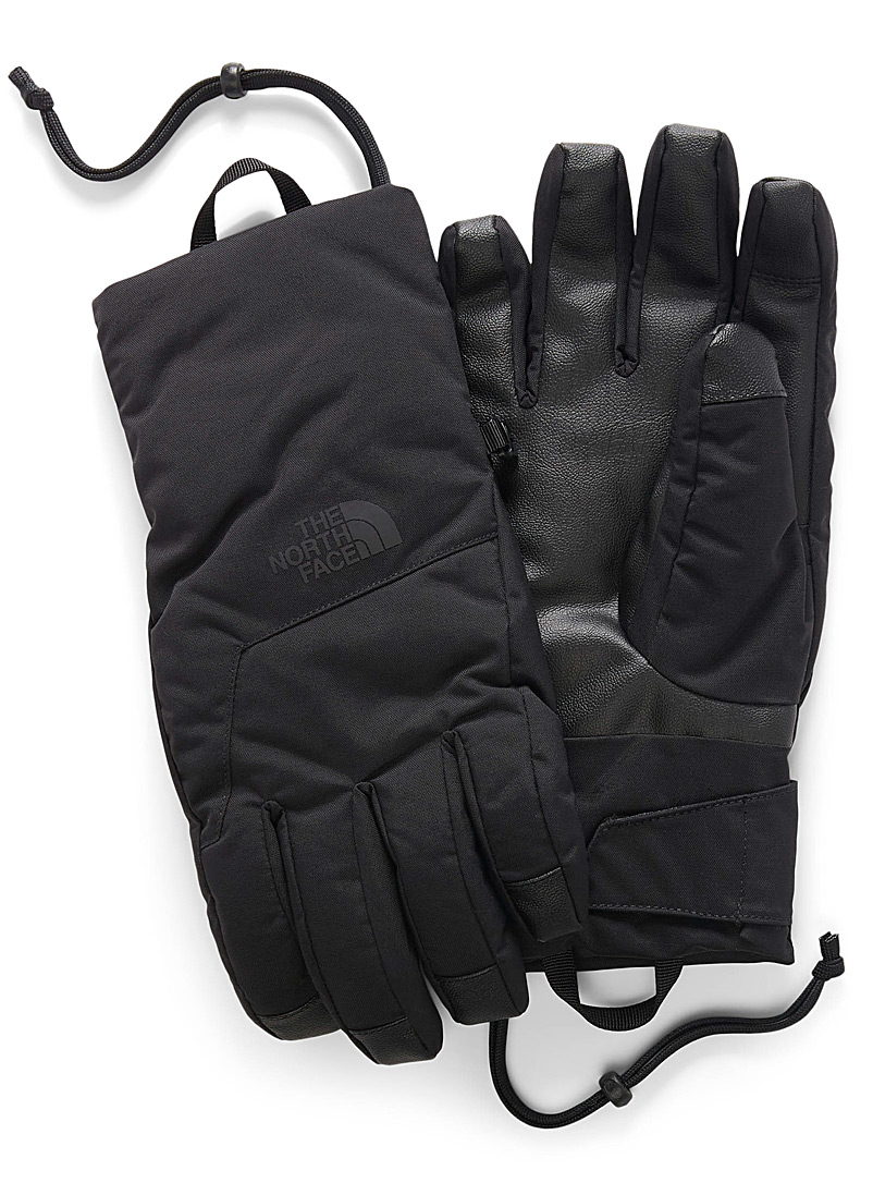The North Face Black Guardian techno gloves for men