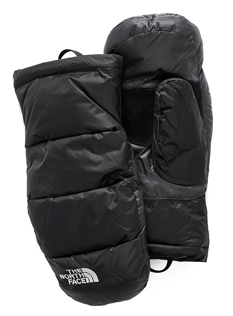 The North Face: La mitaine duvet Nuptse Noir pour homme