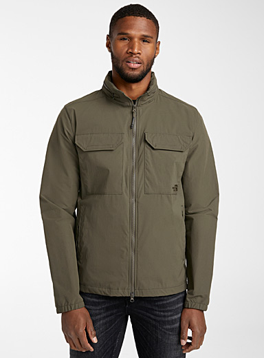 The North Face Khaki Travel stretch windbreaker for men