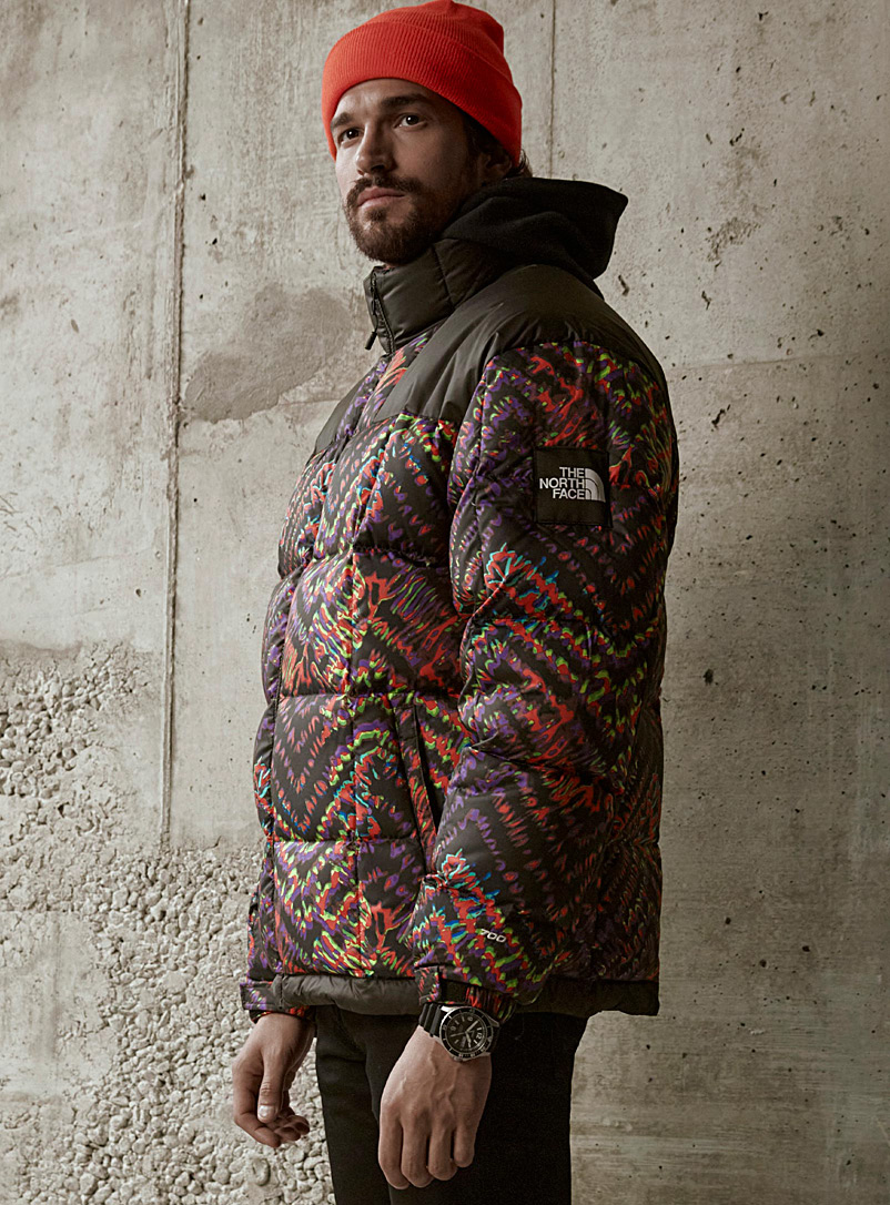 The North Face Patterned Red Lhotse shibori puffer jacket for men