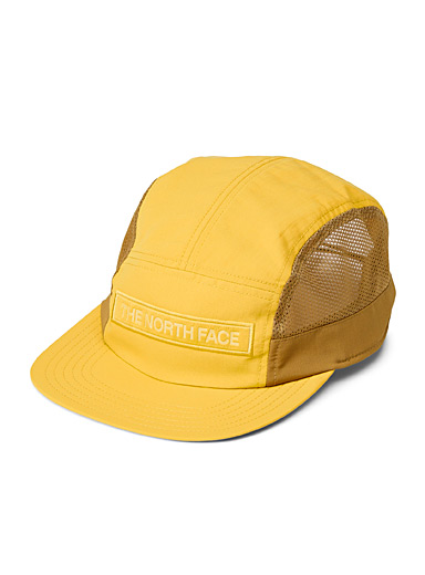 The North Face Dark Yellow Micro-perforated logo cap for men