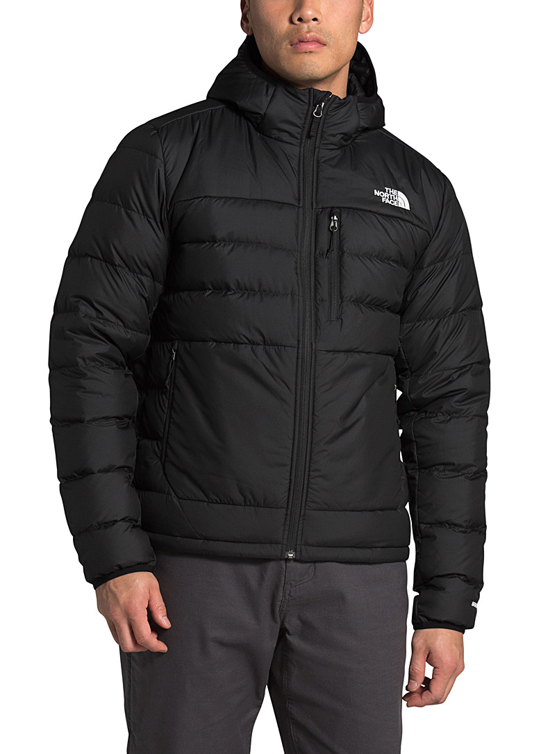 The North Face Black Aconcagua hooded puffer jacket  Relaxed fit for men