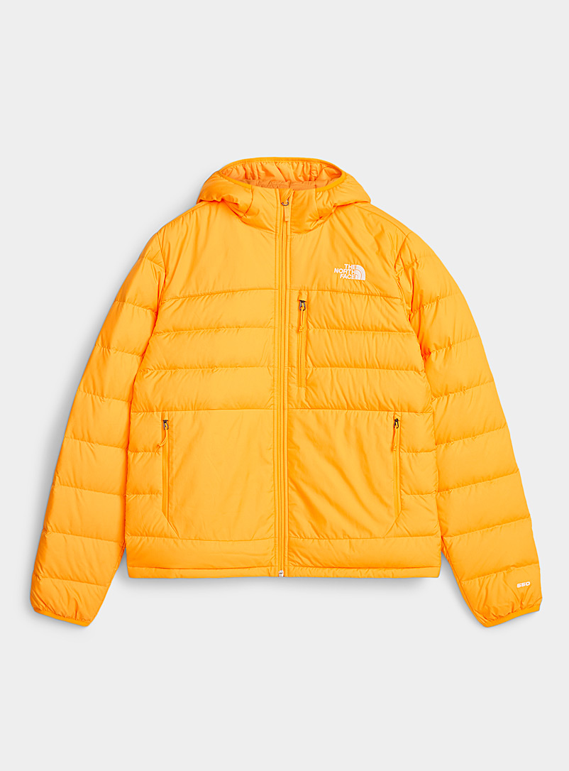 The North Face Golden Yellow Aconcagua hooded puffer jacket  Relaxed fit for men