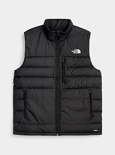 The North Face Black Aconcagua puffer vest  Relaxed sleeveless style for men