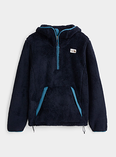 The North Face Marine Blue Campshire hooded sweatshirt for men