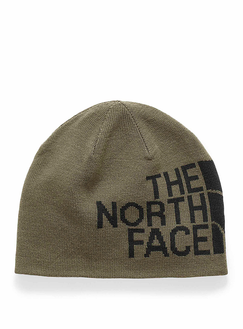 The North Face Khaki Banner reversible logo tuque for men