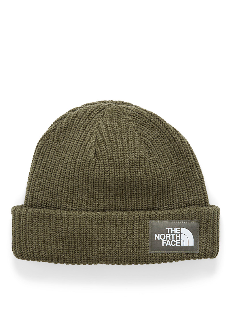 The North Face Khaki Salty Dog ribbed tuque for men
