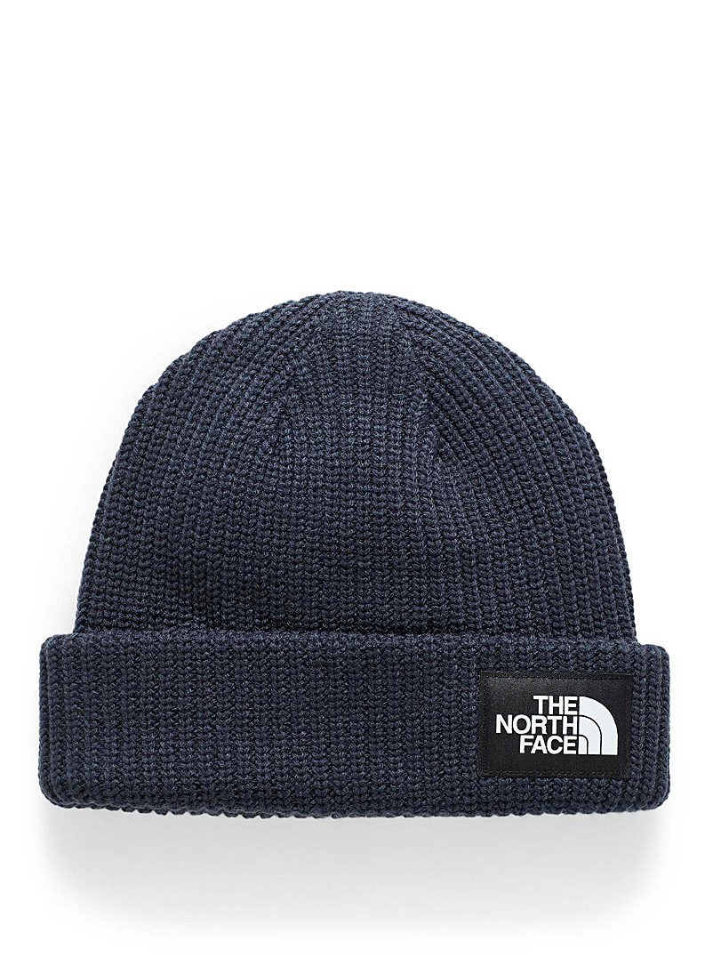 The North Face Marine Blue Salty Dog ribbed tuque for men