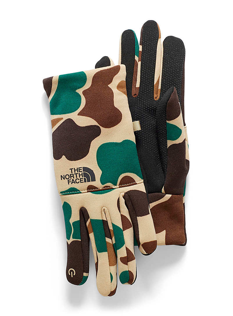 The North Face Patterned Green Etip recycled fibres gloves for men