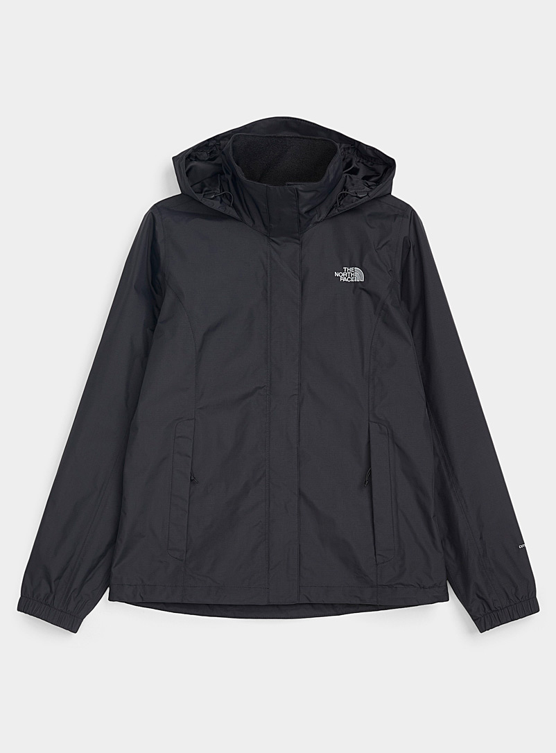 The North Face Black Resolve rugged raincoat for women