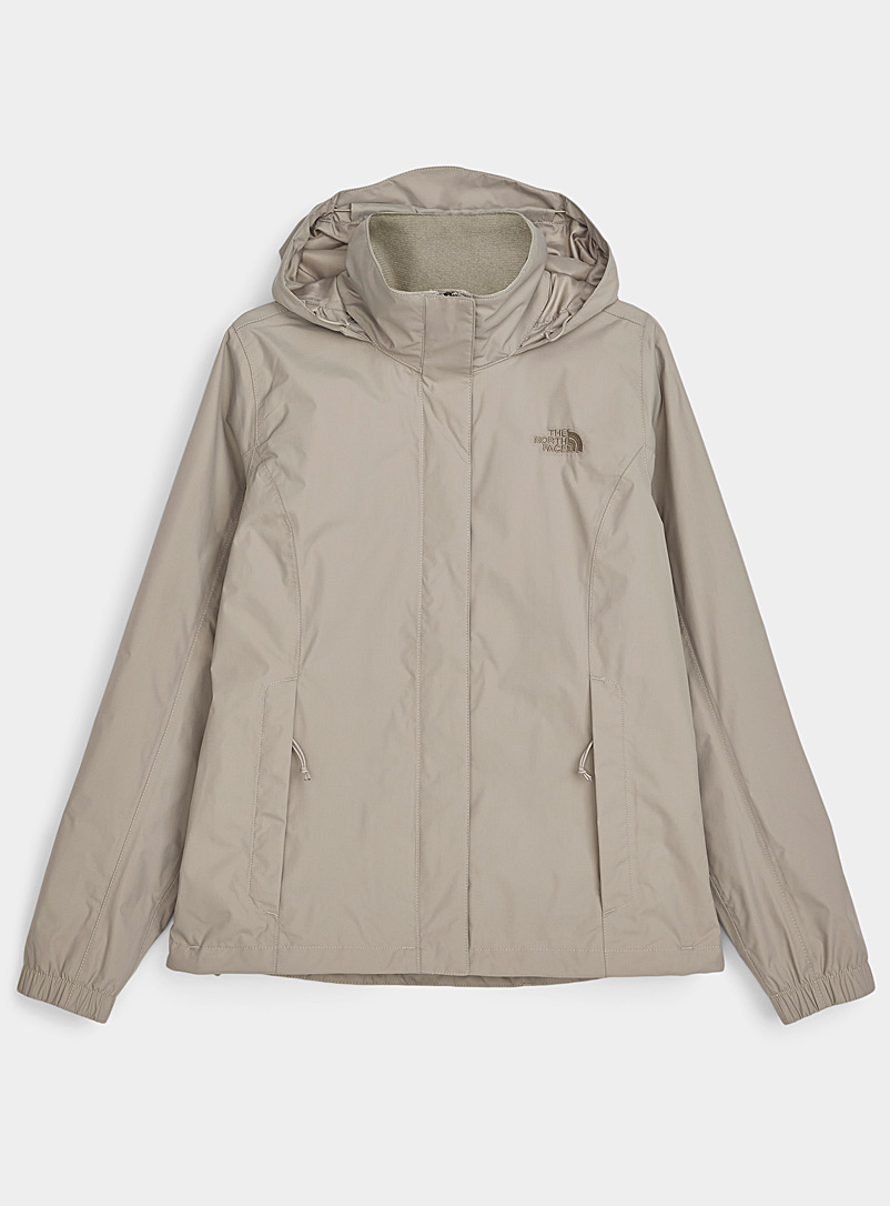 The North Face Light Brown Resolve rugged raincoat for women