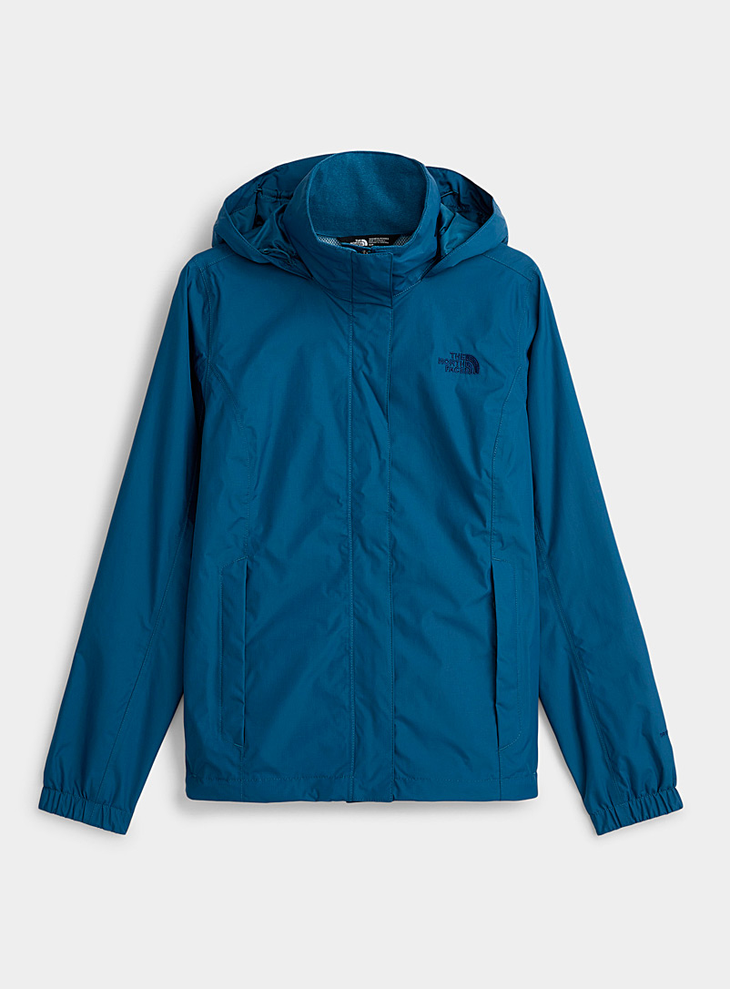 The North Face Dark Blue Resolve rugged raincoat for women