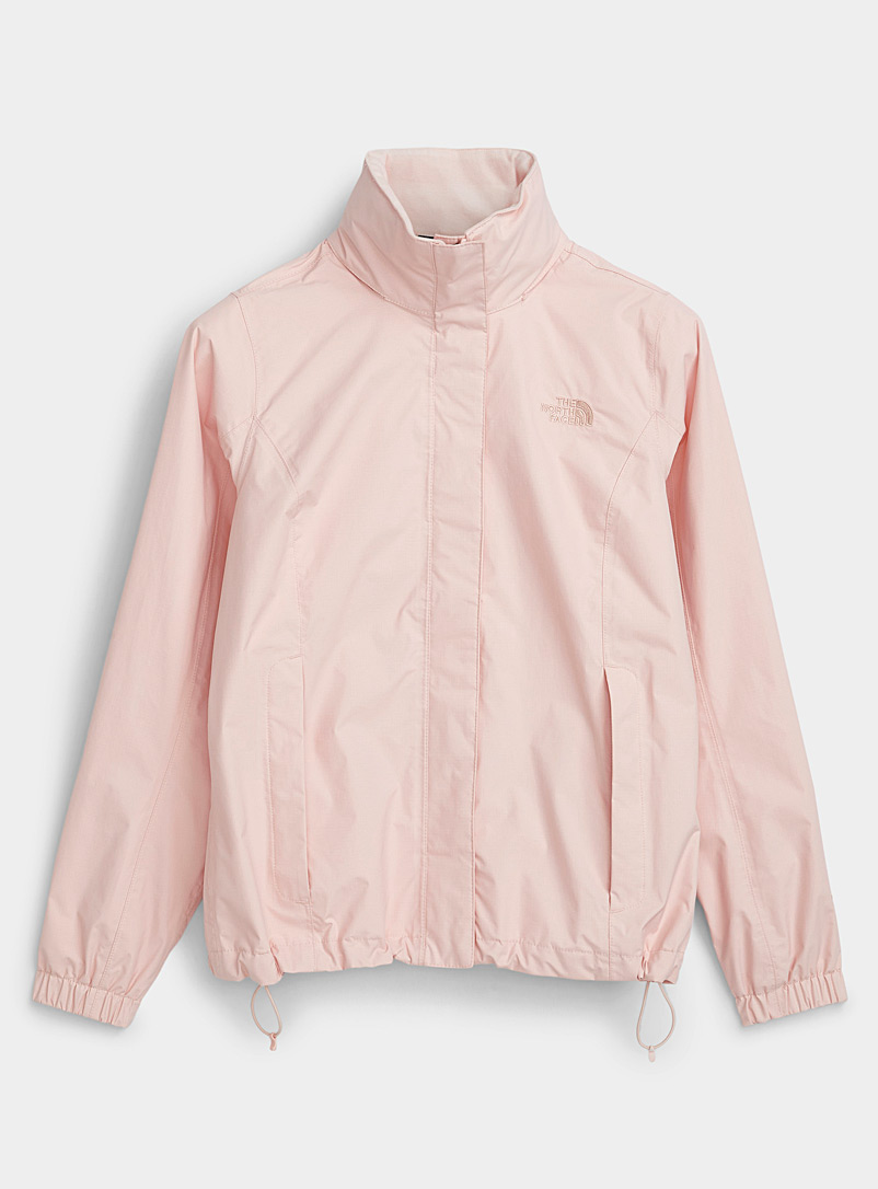 The North Face Pink Resolve rugged raincoat for women