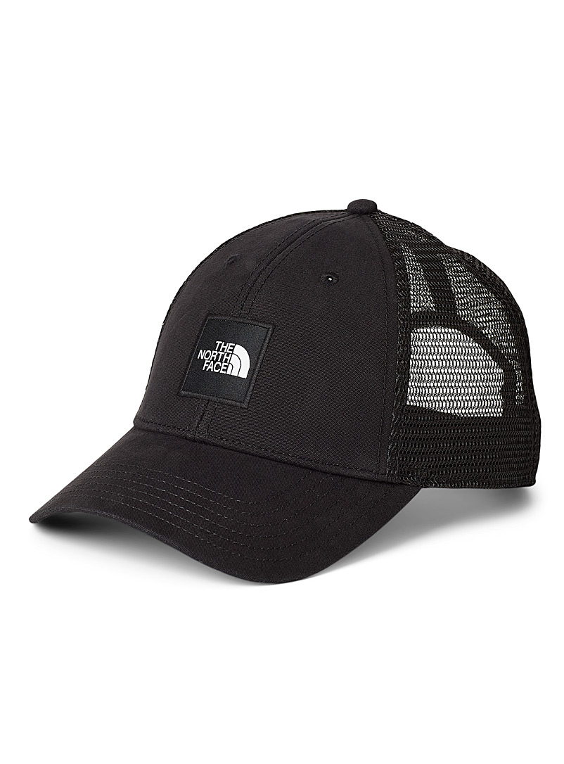 The North Face Black Logo patch trucker cap for men