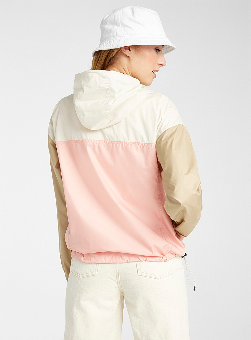 The North Face Patterned White Cyclone windbreaker anorak for women
