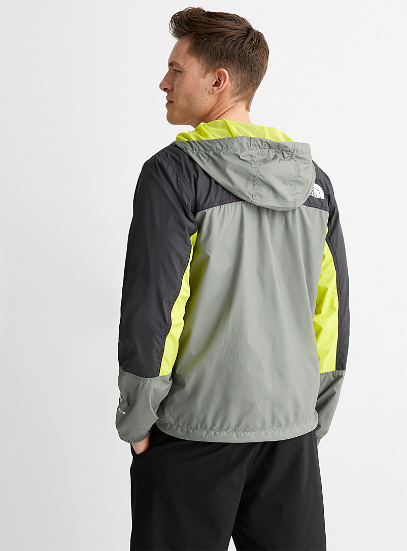 The North Face Patterned Green Hydrenaline windbreaker for men