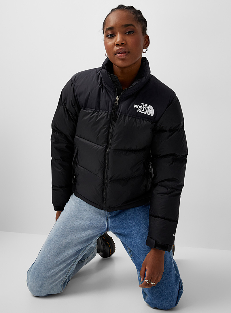 The North Face Black Nuptse 1996 retro puffer jacket for women