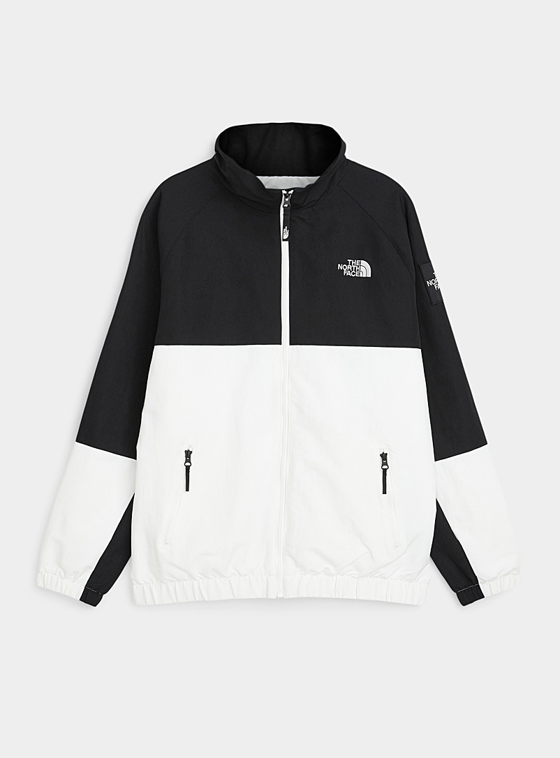 The North Face Black and White Black Box nylon track jacket for men