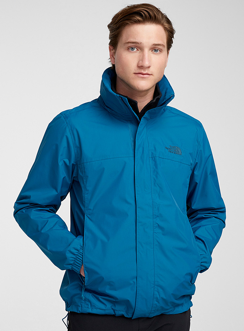 The North Face Slate Blue Solid Resolve 2 waterproof jacket for men