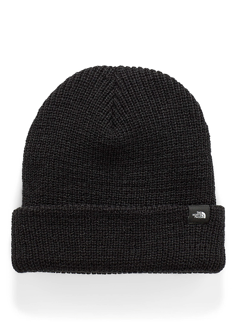 The North Face Black Ribbed cuff beanie for men