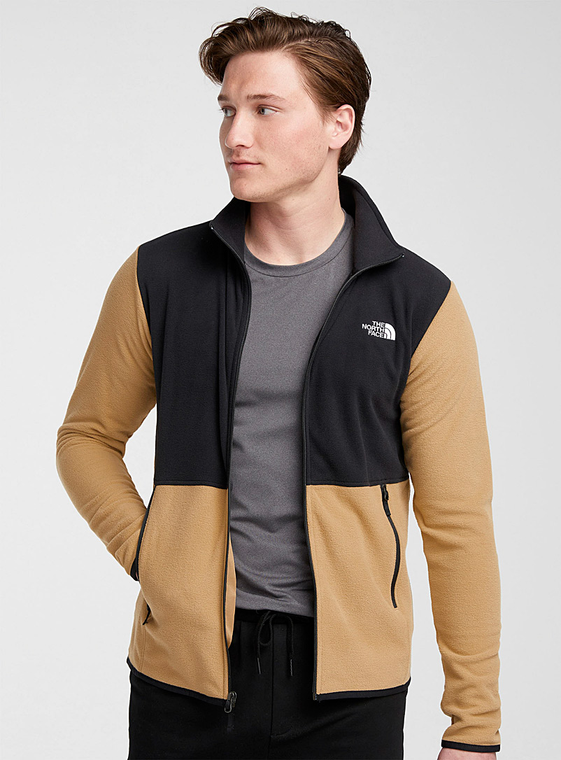 The North Face Honey TKA Glacier block polar fleece jacket for men
