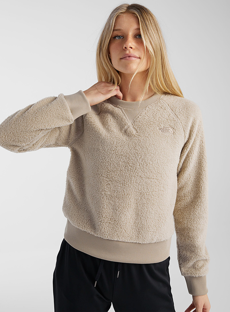 The North Face Sand Dunraven crew-neck plush sweatshirt for women