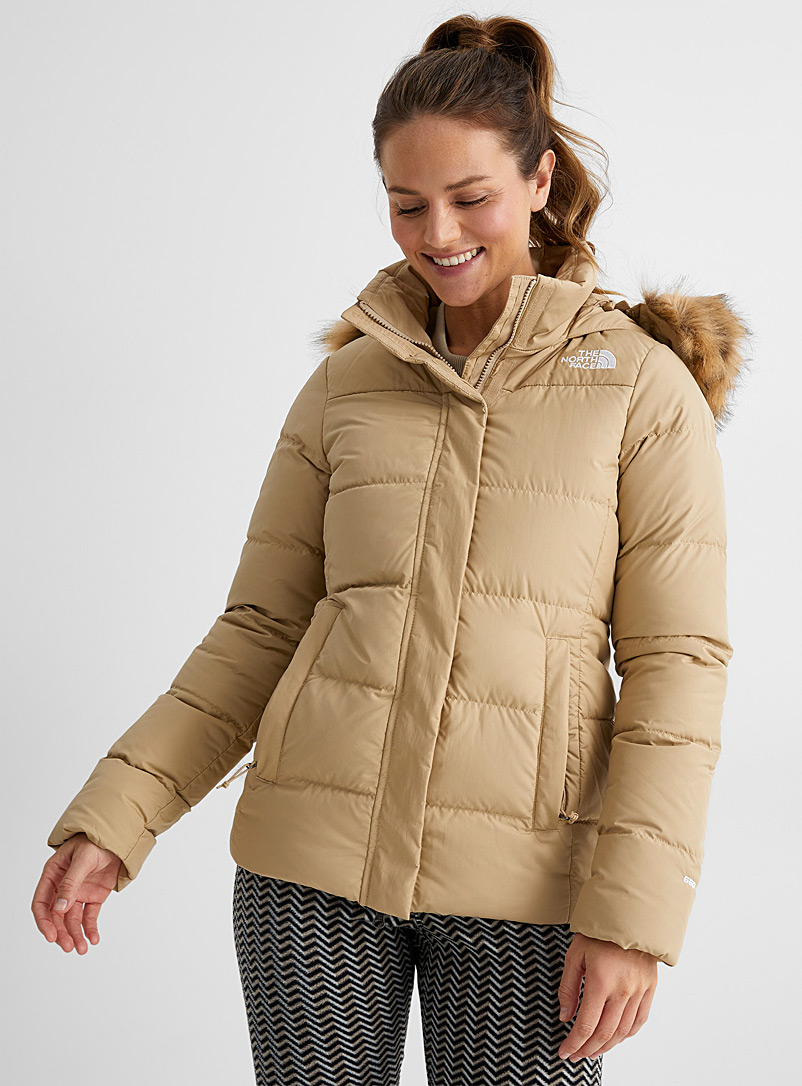 The North Face Sand Gotham coat Fitted style for women