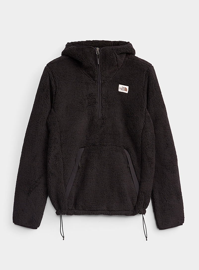 The North Face Black Campshire ultra-soft hoodie for men