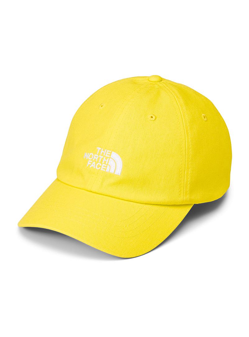 The North Face Bright Yellow Logo dad cap for men
